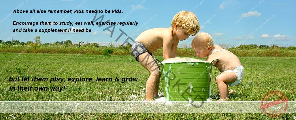 children playing with water - colostrum australia