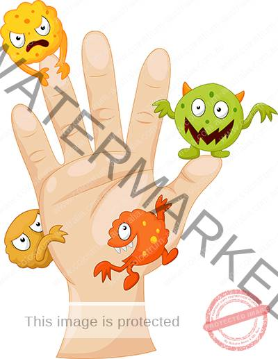 germs on hand - colostrum