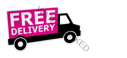Free Delivery white text