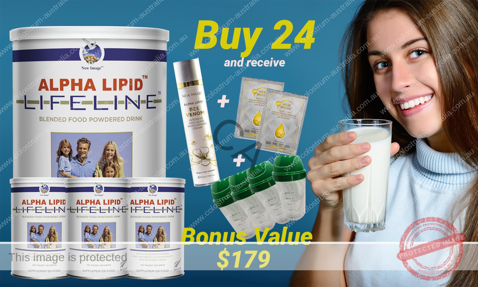 Alpha Lipid Lifeline Colostrum 24 can buy with Bonus